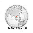 Outline Map of Kalasin, rectangular outline