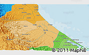 """Political 3D Map of the area around 16°49'43""""N,107°10'30""""E"""