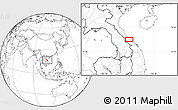 """Blank Location Map of the area around 16°49'43""""N,107°10'30""""E"""