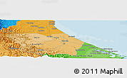 """Political Panoramic Map of the area around 16°49'43""""N,107°10'30""""E"""