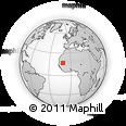 Outline Map of Mreïmida Beïdane, rectangular outline