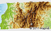 Physical 3D Map of Mankayan