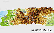 "Physical Panoramic Map of the area around 16° 49' 43"" N, 120° 46' 30"" E"
