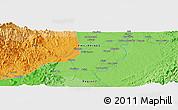 Political Panoramic Map of Santiago
