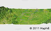 Satellite Panoramic Map of Santiago