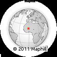 Outline Map of Ebangue, rectangular outline