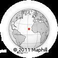Outline Map of Porto Novo, rectangular outline
