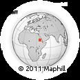Outline Map of Scerit, rectangular outline