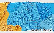 Political 3D Map of Āgra'ī