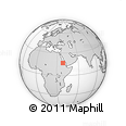 Outline Map of Baden, rectangular outline