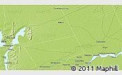 """Physical 3D Map of the area around 16°49'43""""N,3°19'30""""W"""