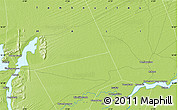 """Physical Map of the area around 16°49'43""""N,3°19'30""""W"""