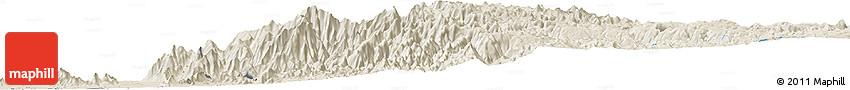 Shaded Relief Horizon Map of Şa`dah