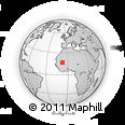 Outline Map of Néma, rectangular outline