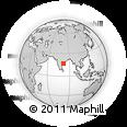 Outline Map of Tādepallegūdem, rectangular outline
