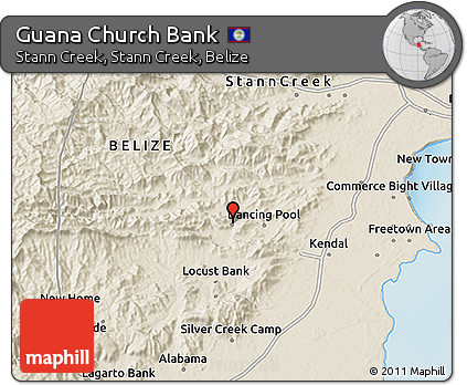 Shaded Relief 3D Map of Guana Church Bank