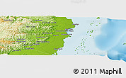 Physical Panoramic Map of Sale si Puede
