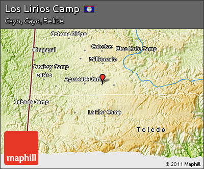 Physical 3D Map of Los Lirios Camp