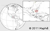 Blank Location Map of Los Lirios Camp