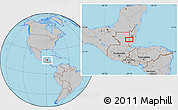 Gray Location Map of Los Lirios Camp