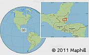 Savanna Style Location Map of Los Lirios Camp