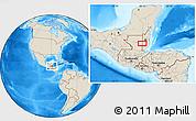Shaded Relief Location Map of Los Lirios Camp