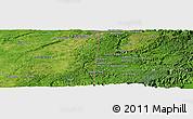 Satellite Panoramic Map of Los Lirios Camp