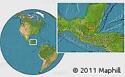 Satellite Location Map of San Benito