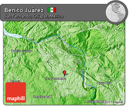 Benito Juarez Mexico Map.Free Political Map Of Benito Juarez