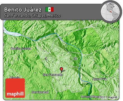 Free Political Map Of Benito Juarez