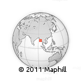 Outline Map of Letpan, rectangular outline
