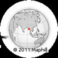 Outline Map of Zwetki, rectangular outline