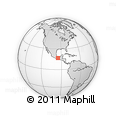 Outline Map of Matias Romero Avendano, rectangular outline