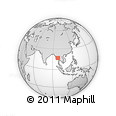 Outline Map of Naungbo, rectangular outline