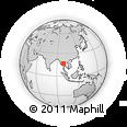 Outline Map of Kawkareik Township, rectangular outline