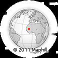 Outline Map of 'Ayoûn El 'Atroûs, rectangular outline