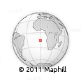 Outline Map of Vanua Levu, rectangular outline