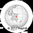 Outline Map of Port Douglas, rectangular outline