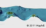 Satellite Panoramic Map of Uturoa