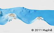 Shaded Relief Panoramic Map of Uturoa