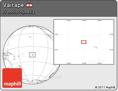 Blank Location Map of Vaitape