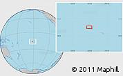 Gray Location Map of Vaitape