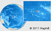 Shaded Relief Location Map of Faanoa