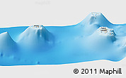 Shaded Relief Panoramic Map of Vaitape