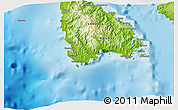 """Physical 3D Map of the area around 16°29'14""""S,167°31'30""""E"""