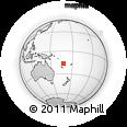 "Outline Map of the Area around 16° 29' 14"" S, 167° 31' 30"" E, rectangular outline"