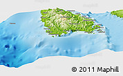 """Physical Panoramic Map of the area around 16°29'14""""S,167°31'30""""E"""