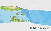 Physical Panoramic Map of Maté