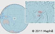 Gray Location Map of Kavula, hill shading