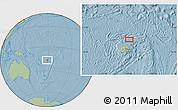 Savanna Style Location Map of Kavula, hill shading